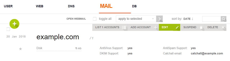 How to configure DKIM in VestaCP - IdeaSoft Hosting